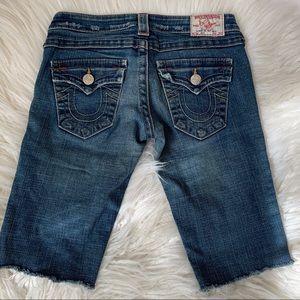 True Religion Joey Jean Shorts size 26